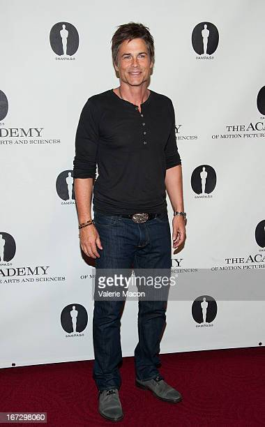Rob Lowe attends Academy Of Motion Picture Arts And Sciences Hosts A Wayne's World Reunion at AMPAS Samuel Goldwyn Theater on April 23 2013 in...
