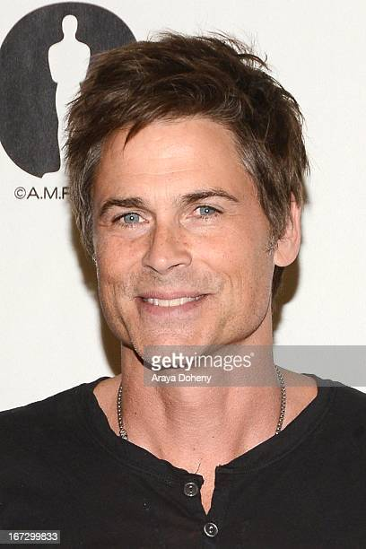 Rob Lowe attends the Academy of Motion Picture Arts and Sciences hosts a Wayne's World reunion at AMPAS Samuel Goldwyn Theater on April 23 2013 in...