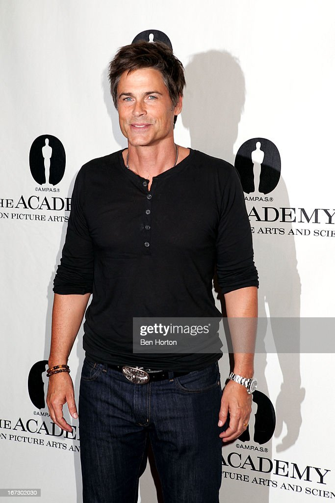 Rob Lowe attends the Academy Of Motion Picture Arts And Sciences Hosts A 'Wayne's World' Reunion at AMPAS Samuel Goldwyn Theater on April 23, 2013 in Beverly Hills, California.