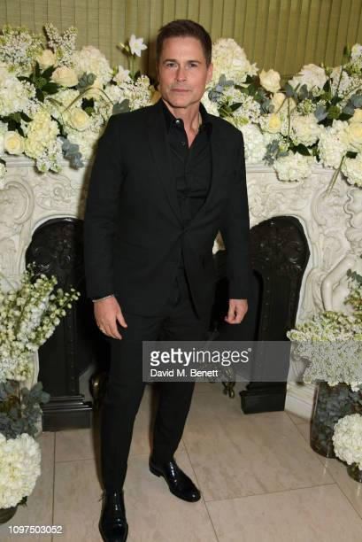 Rob Lowe attends the British Vogue and Tiffany Co Celebrate Fashion and Film Party at Annabel's on February 10 2019 in London England