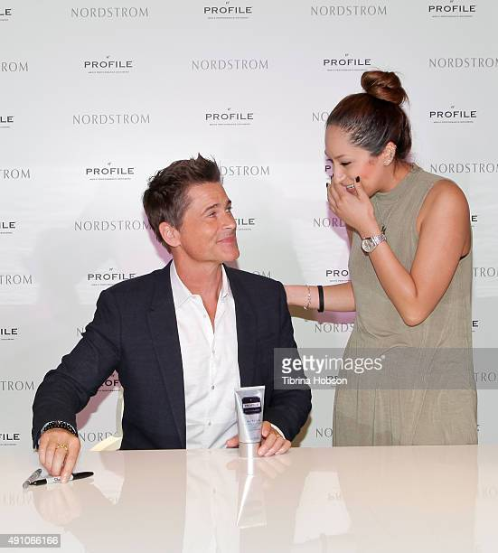Rob Lowe attends the launch of the Profile Men's Performance Grooming Line and greets fans at Nordstrom at the Grove on October 2 2015 in Los Angeles...