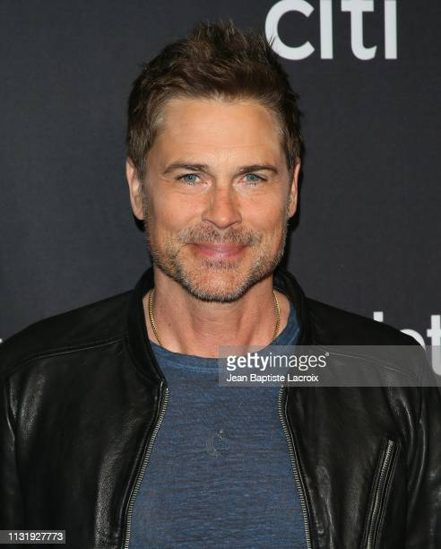 Rob Lowe attends the Paley Center For Media's 2019 PaleyFest LA Parks And Recreation 10th Anniversary Reunion held at the Dolby Theater on March 21...