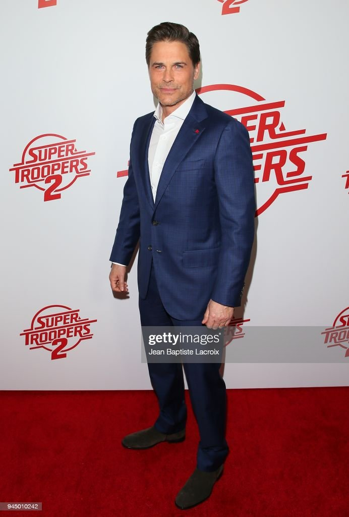 Rob Lowe attends the premiere of Fox Searchlight Pictures' 'Super Troopers 2' on April 11, 2018 in Los Angeles, California.