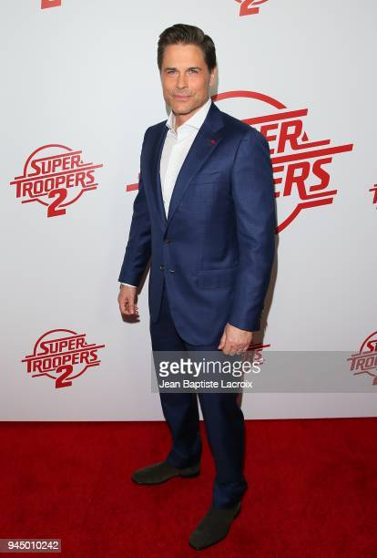 Rob Lowe attends the premiere of Fox Searchlight Pictures' 'Super Troopers 2' on April 11 2018 in Los Angeles California