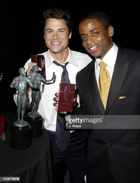Rob Lowe Dule Hill with Givenchy for Men during 8th Screen Actors Guild Awards Backstage Creations Talent Retreat at Shrine Auditorium in Los Angeles...