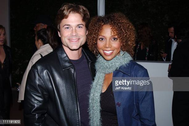 Rob Lowe Holly Robinson during PlayStation2 Guy Oseary 30th Birthday Party in Los Angeles California United States