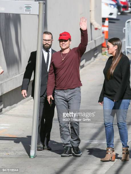 Rob Lowe is seen arriving at 'Jimmy Kimmel Live' on April 16 2018 in Los Angeles California