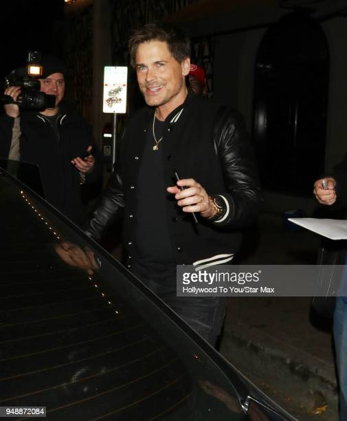 Rob Lowe is seen on April 18 2018 in Los Angeles California