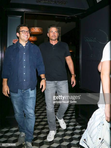 Rob Lowe is seen on August 22 2017 in Los Angeles California