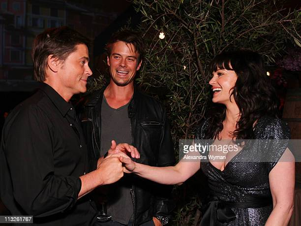 Rob Lowe Josh Duhamel and Carla Gugino at IWC Schaffhausen Peter Lindbergh's Portofino held at Culver Studios on April 28 2011 in Culver City...