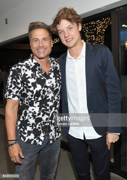 Rob Lowe Photographer Sascha von Bismarck and celebrity floral and fragrance designer Eric Buterbaugh attend the private opening of Sascha von...