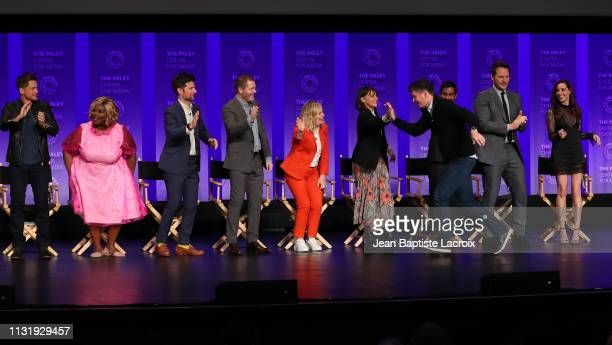 Rob Lowe Retta Adam Scott Nick Offerman Amy Poehler Michael Shur Rashida Jones Aziz Ansari Chris Pratt Aubrey Plaza and Jim O'Heir attend the Paley...
