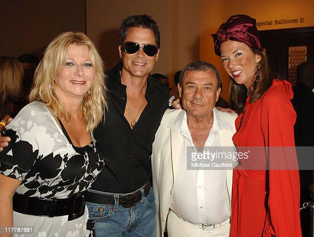 Rob Lowe Sol Kerzner and Heather Kerzner during John Travolta Whitney Houston Steven Tyler and Disco Concert Cap Off Grand Opening of The Cove...