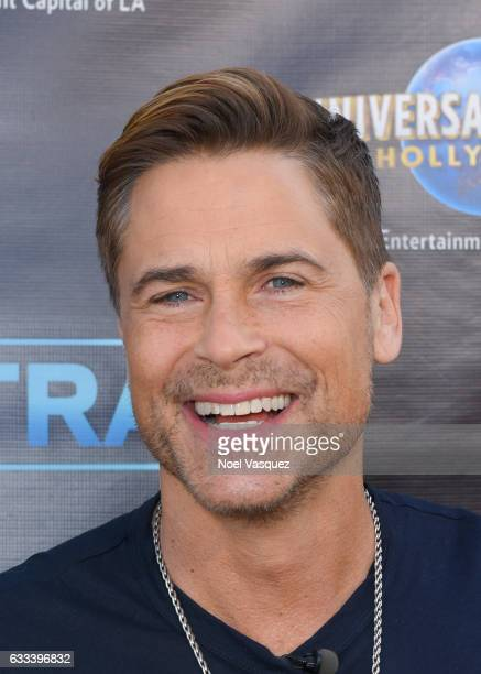 Rob Lowe visits 'Extra' at Universal Studios Hollywood on February 1 2017 in Universal City California