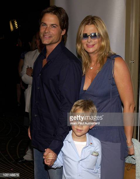 Rob Lowe wife Cheryl and son John Owen during NBC All Star Casino Night 2003 TCA Press Tour Arrivals at Renaissance Hotel Grand Ballroom in Hollywood...