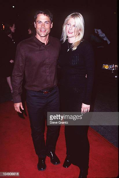Rob Lowe Wife during Premiere of LA Confidential in Los Angeles at Mann's Chinese Theater in Los Angeles California United States