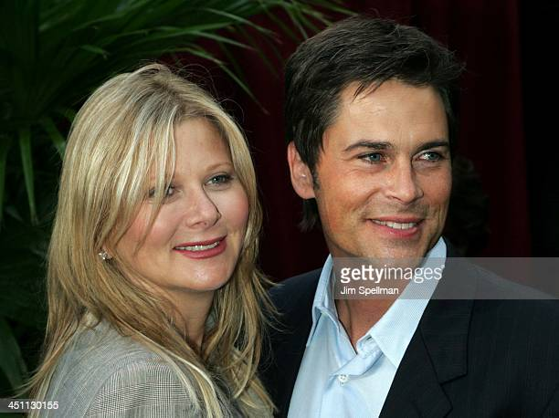Rob Lowe{R} and wife Sheryl Berkoff during CBS Prime Time 20042005 Upfront at Tavern on the Green in New York City New York United States
