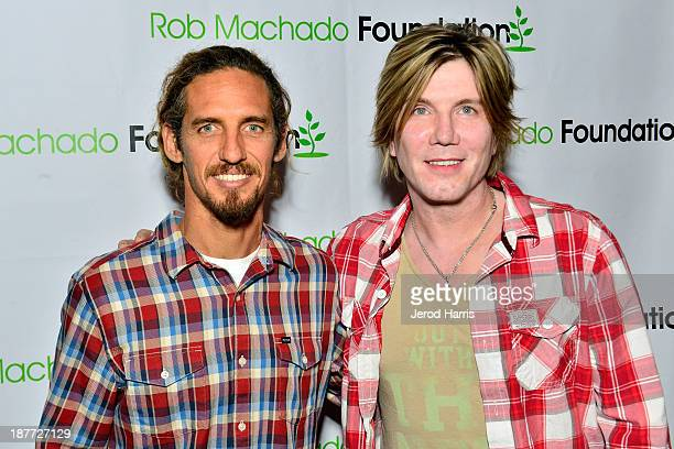 Rob Machado and Johnny Rzeznik attend the 2nd Annual Rob Machado Foundation benefit concert at the Belly Up Tavern on November 11 2013 in Solana...