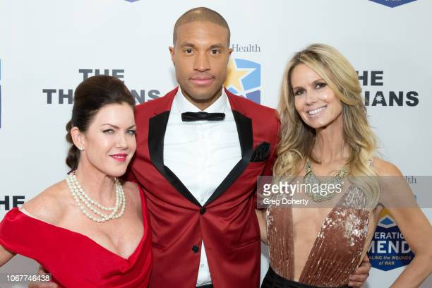 Rob Mack and Erin Haskell join Kira Reed Lorsch as they attend The Thalians Holiday Party with Kira Reed Lorsch as Chair at Bel Air Country Club on...