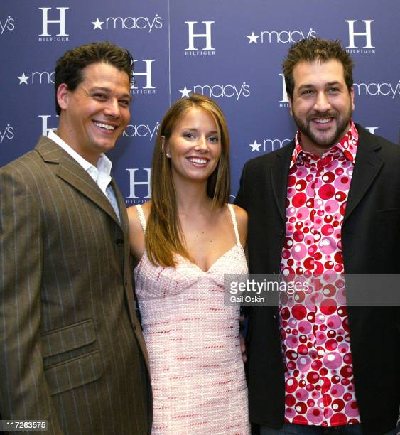Rob Mariano Amber Brkich and Joey Fatone wearing H Hilfiger
