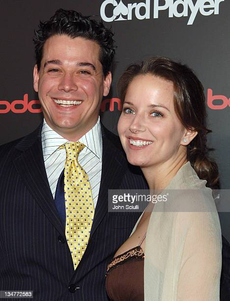 Rob Mariano and Amber Brkich during Bodogcom Presents Card Player's Player of the Year Awards Red Carpet at Henry Fonda Theatre in Los Angeles...
