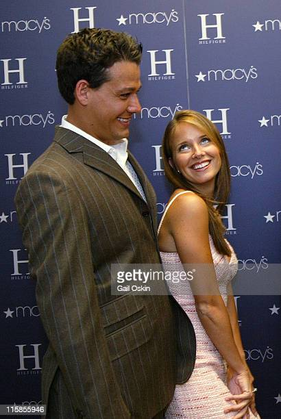 Rob Mariano and Amber Brkich wearing H Hilfiger during Tommy Hilfiger Fashion Show Presented by Macy's at Macy's Downtown Crossing in Boston...