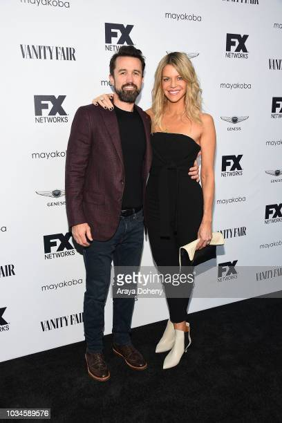 Rob McElhenney and Kaitlin Olson attend FX Networks celebration of their Emmy nominees at CRAFT LA on September 16, 2018 in Los Angeles, California.