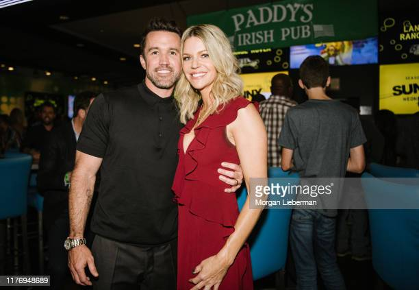 """Rob McElhenney and Kaitlin Olson attend FX's """"It's Always Sunny In Philadelphia"""" Season 14 after party on September 24, 2019 in Hollywood, California."""