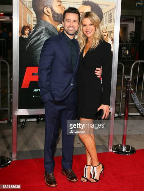 Rob McElhenney and Kaitlin Olson attend premiere of Warner Bros. Pictures' 'Fist Fight' on February 13, 2017 in Westwood, California.