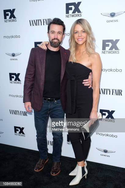 Rob McElhenney and Kaitlin Olson attend the FX And Vanity Fair Emmy Celebration at CRAFT LA on September 16, 2018 in Los Angeles, California.