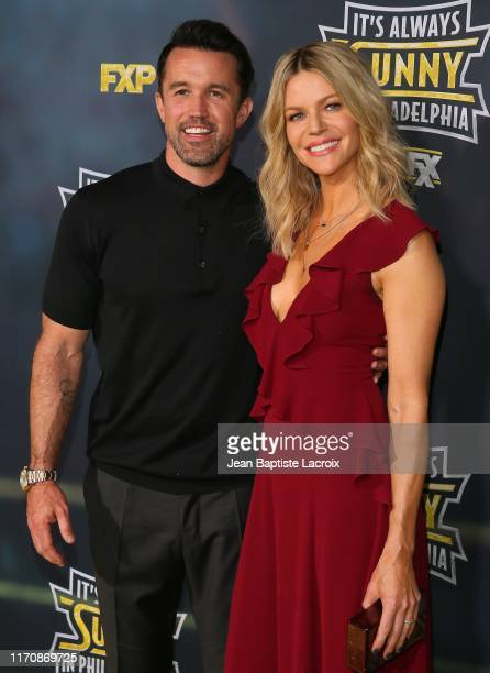 """Rob McElhenney and Kaitlin Olson attend the premiere of FX's """"It's Always Sunny In Philadelphia"""" Season 14 at TCL Chinese 6 Theatres on September 24,..."""