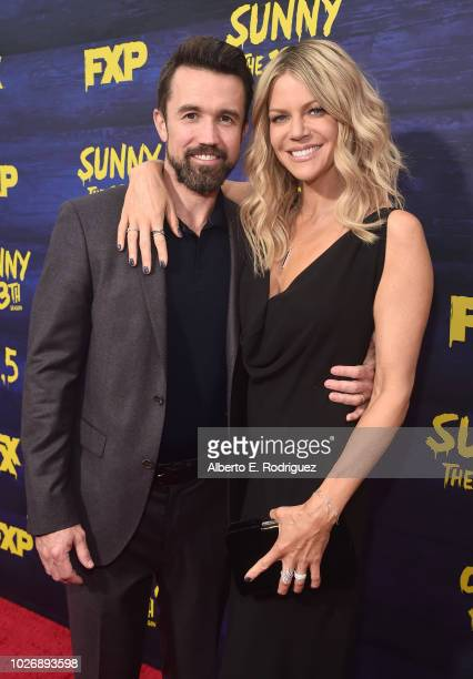 """Rob McElhenney and Kaitlin Olson attend the premiere of FXX's """"It's Always Sunny In Philadelphia"""" Season 13 at Regency Bruin Theatre on September 4,..."""
