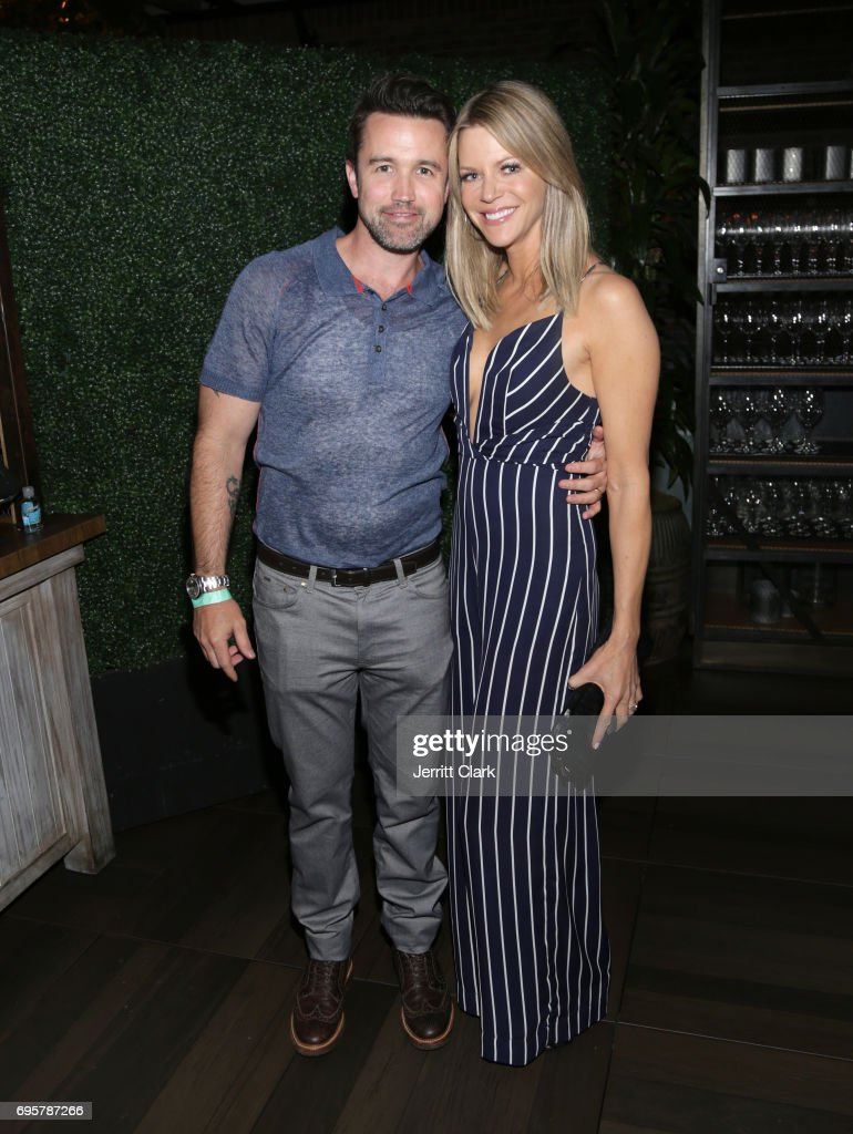 Rob McElhenney and Kaitlin Olson attend the premiere of truTV's 'I'm Sorry' n June 13, 2017 in West Hollywood, California.