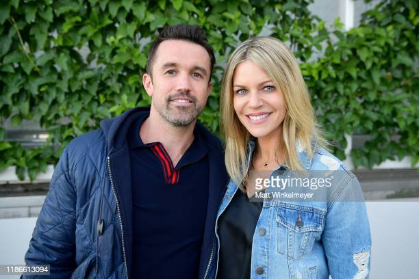 Rob McElhenney and Kaitlin Olson attend the WIRED25 Summit 2019 - Day 2 at Commonwealth Club on November 09, 2019 in San Francisco, California.