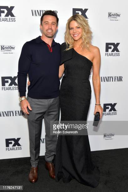 Rob McElhenney and Kaitlin Olson attend Vanity Fair and FX's annual Primetime Emmy Nominations Party on September 21, 2019 in Century City,...