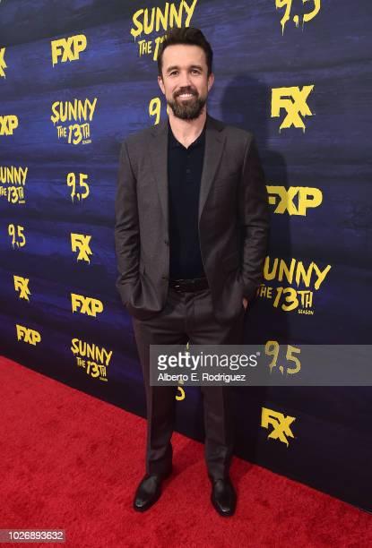 "Rob McElhenney attend the premiere of FXX's ""It's Always Sunny In Philadelphia"" Season 13 at Regency Bruin Theatre on September 4, 2018 in Los..."