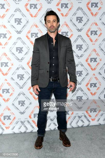 Rob McElhenney attends FX Networks Starwalk Red Carpet at TCA at The Beverly Hilton Hotel on August 3, 2018 in Beverly Hills, California.