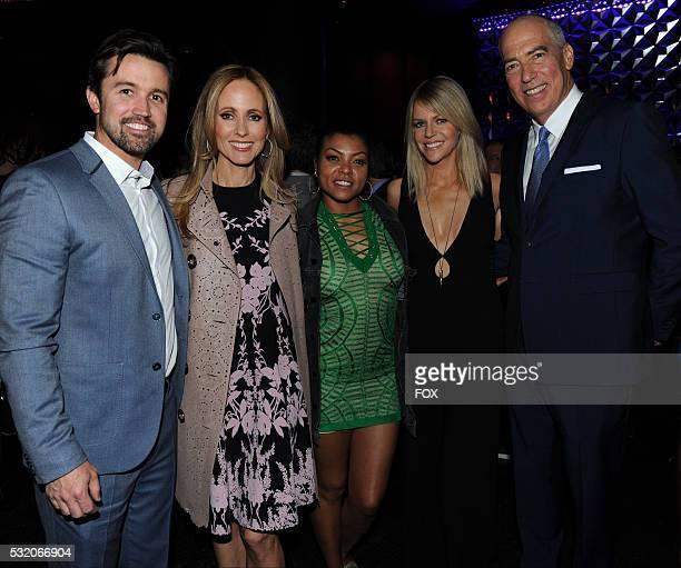 Rob McElhenney, Chairman and CEO Fox Television Group Dana Walden, EMPIRE cast member Taraji P. Henson, THE MICK cast member Kaitlin Olson and...