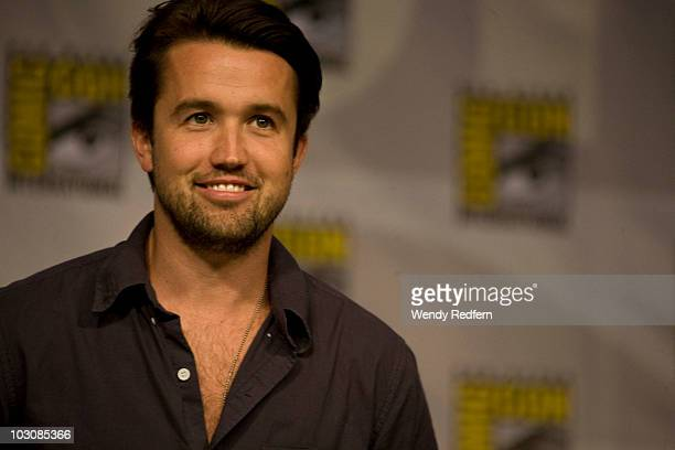 Rob McElhenney speaks at the It's Always Sunny in Philadelphia panel at Comic-Con on July 25, 2010 in San Diego, California.