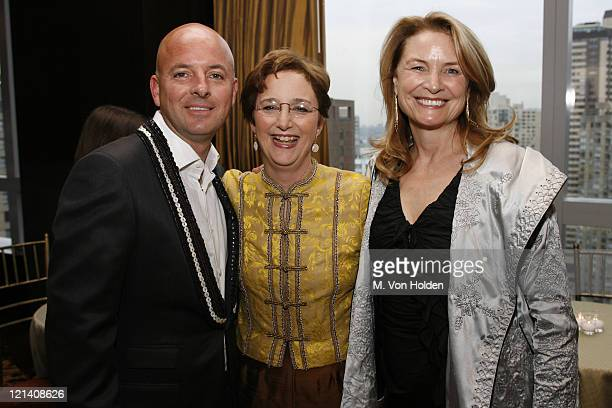 Rob McKay Sara Gould and Anna Hawken Mckay during Ms Foundation for Women's 18th Annual Gloria Awards at Mandarin Hotel in New York NY United States