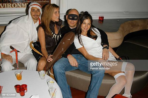 Rob McKinley Summer Strauch Steve Kasuba and Jessica Bamberger attend Four Degrees hosts Halloween Party at Capitale on October 29 2005 in New York...