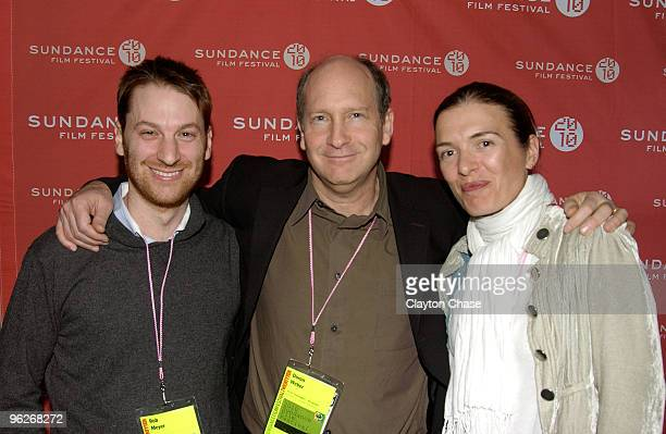 Rob Meyer Doron Weber and Diane Bell attend the Alfred P Sloan Foundation Reception during the 2010 Sundance Film Festival at Filmmaker Lodge on...