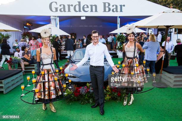 Rob Mills attends Opera in Domain 2018 Model Dana Trebar works at event on January 13 2018 in Sydney Australia