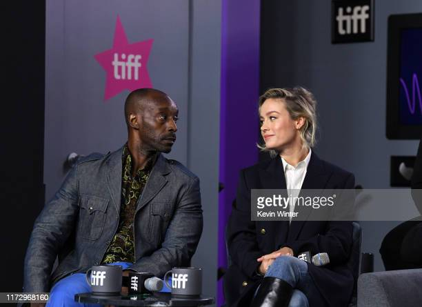 """Rob Morgan and Brie Larson attend the """"Just Mercy"""" press conference during the 2019 Toronto International Film Festival at TIFF Bell Lightbox on..."""