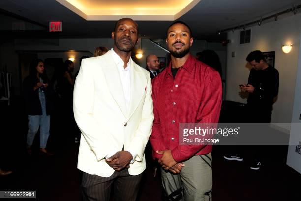 Rob Morgan and Michael B Jordan attend Warner Bros Hosts A Special Screening Of Just Mercy at DGA Theater on September 8 2019 in New York City