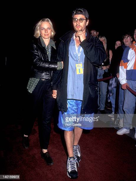 Rob Morrow and Debbon Ayre at the U2 in Concert, Giants Stadium, East Rutherford.