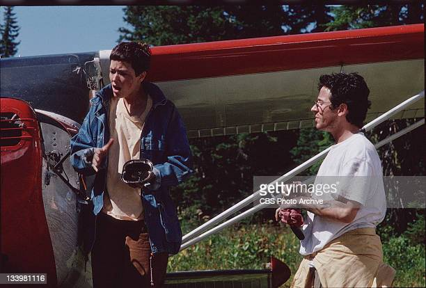 Rob Morrow as Dr Joel Fleischman and Janine Turner as Maggie O'Connell