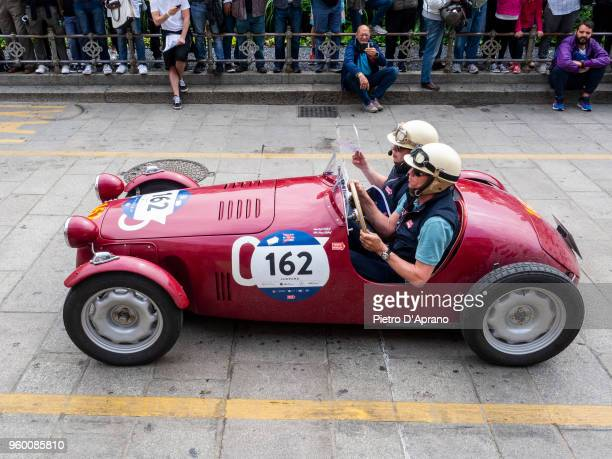 Rob Nijhof and Max Nijhof on a Faccioli FIAT 750 S during 1000 Miles Historic Road Race on May 19 2018 in Milan Italy
