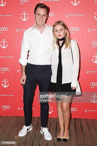 Rob Oatley and Xanthe Watzler attend the 2016 Audi Hamilton Island Race Week Launch at Vaucluse Yacht Club on April 6 2016 in Sydney Australia