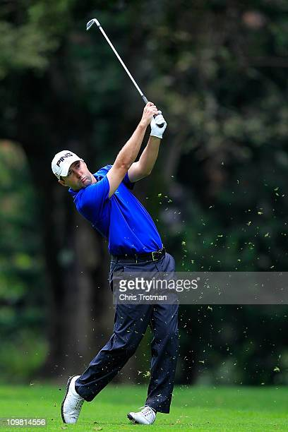 Rob Oppenheim hits his approach to the second green during the final round of the weather shortened Pacific Rubiales Bogota Open Presented by Samsung...